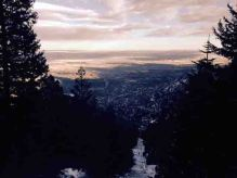 view from the incline