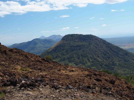 view from telica volcano