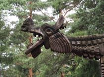 wood dragon carving