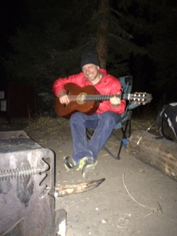 singing by the campfire