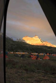 view from tent