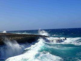 coast before crashing wave