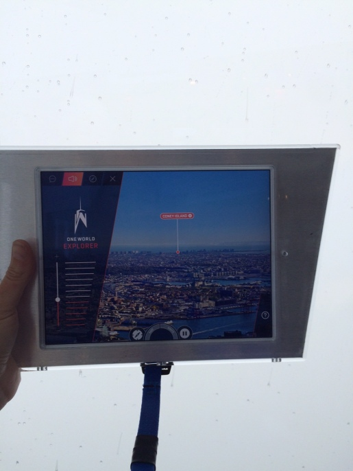 iPad showing what we should see behind the cloud