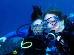 first ever selfie under water