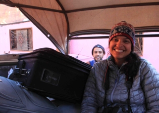 Suman in truck photo bombed by Attallah