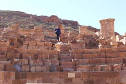 Syreeta in the Great Temple while Margaret and I were hiking