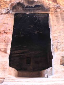 cave burned by Bedouin campfires