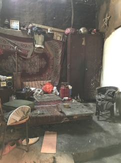 bedroom where fire attendant lived