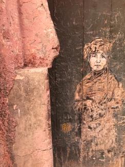 mural on door