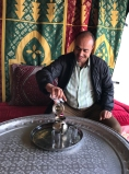 Youssef pouring tea