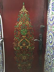 inside the bathroom stall