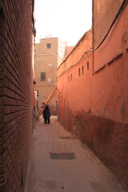 The riad was located down this derb