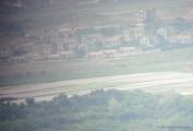 North Korea Fake City through telescope
