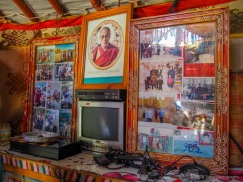 shrine with TV in the middle