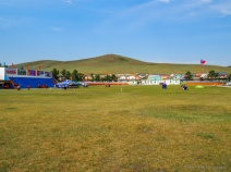 Olympic Hill (marked with five rings for a wrestler that represented Mongolia in the 2004 Olympics)