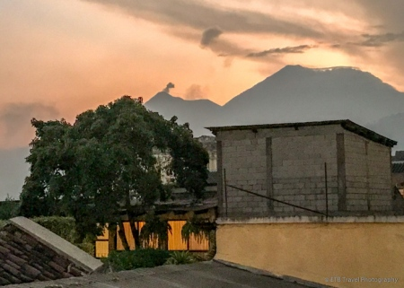 smoke coming out of Fuego
