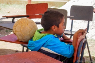 This flat soccer ball was his prize possession