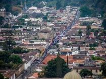 view of Easter procession from Cerro de la Cruz