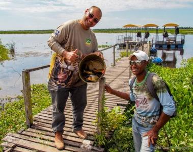 Alex and Oswaldo with our catch